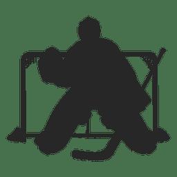 Ice hokey keeper silhouette