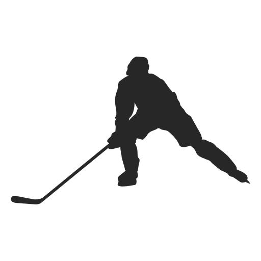 Ice Hokey Player Silhouette Playing