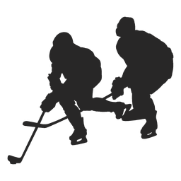 Ice hokey players silhouette 1