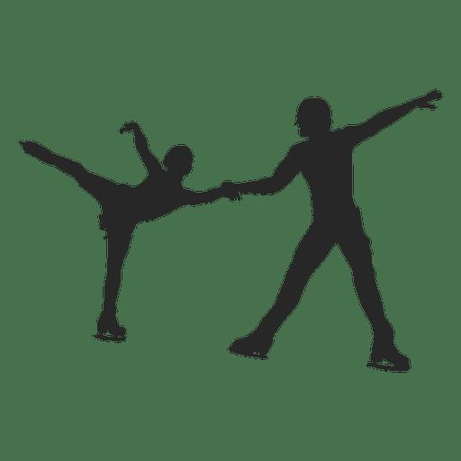 Eislaufen Paar tanzen Transparent PNG
