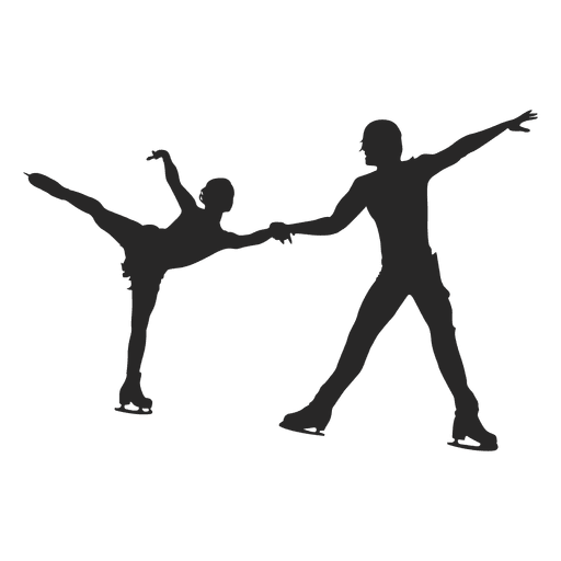 Patinaje sobre hielo pareja de baile Transparent PNG