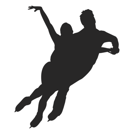 Ice skating dance couple Transparent PNG