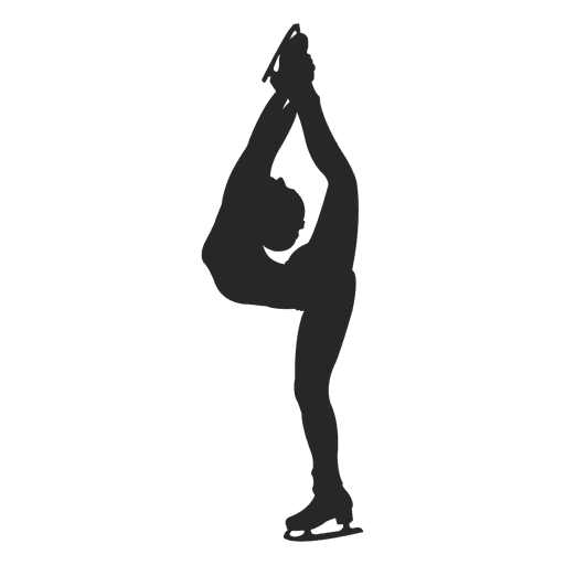 Ice skating female silhouette Transparent PNG