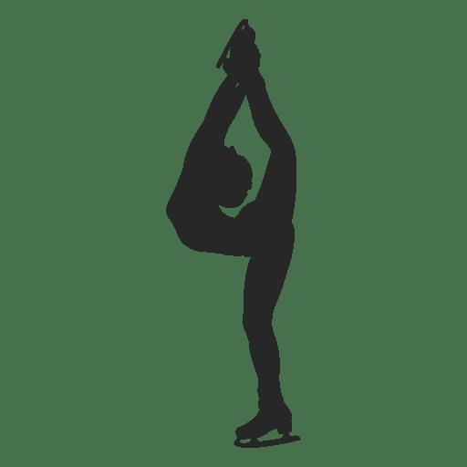Patinaje sobre hielo silueta femenina Transparent PNG