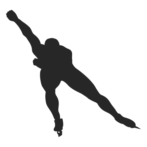 Ice skating silhouette Transparent PNG