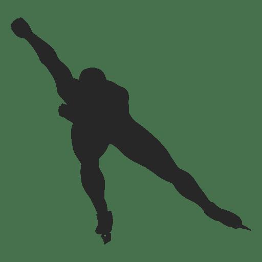 Silhueta de patinação no gelo Transparent PNG