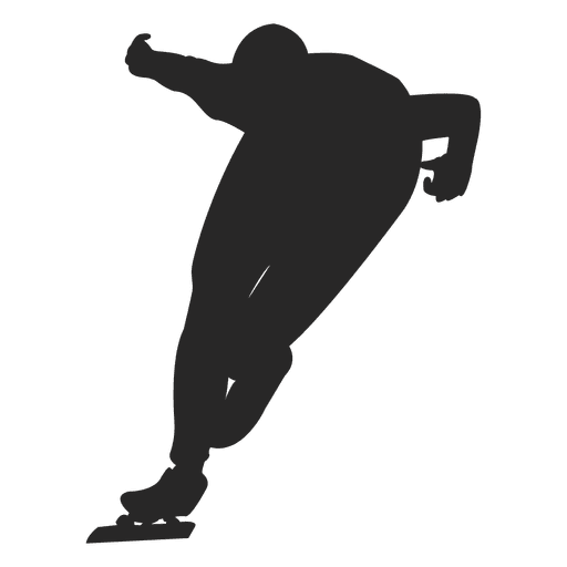 Ice skating silhouette 1 Transparent PNG