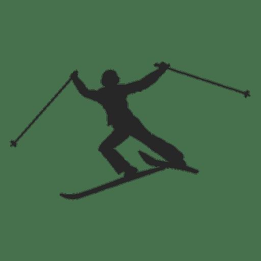 Silhueta de esqui no gelo Transparent PNG