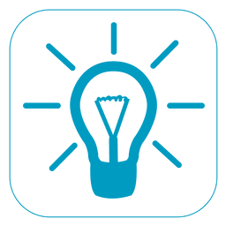 Idea light square icon