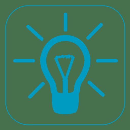 Idea light square icon
