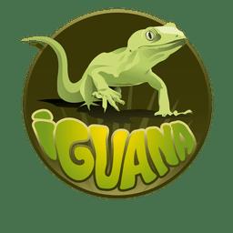 Iguana animal logo