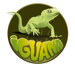 Logotipo animal da iguana