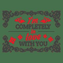 En la etiqueta de San Valentín amor