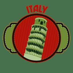 Italy landmark emblem