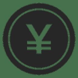 Icono de moneda de yenes japoneses