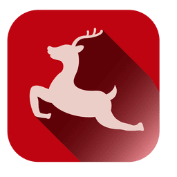 Jumping deer square icon