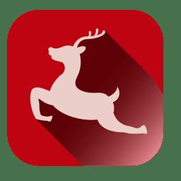 Saltar icono cuadrado de ciervo