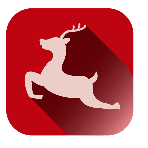 Jumping deer square icon Transparent PNG