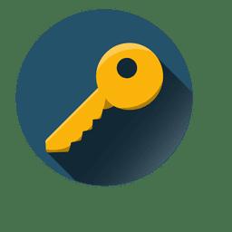 Icono de llave redonda