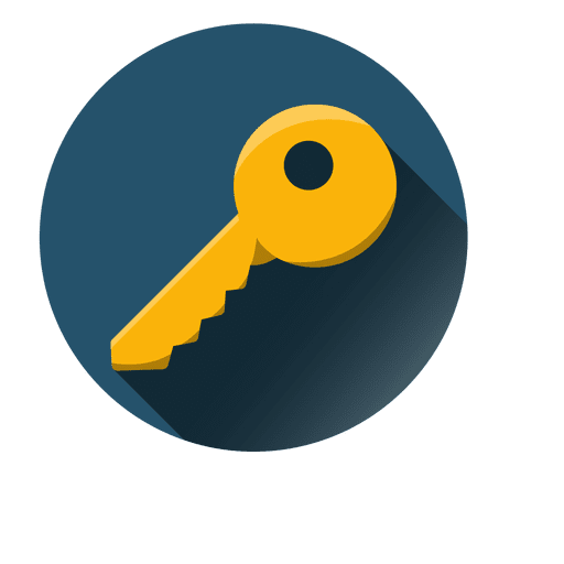 Key round icon Transparent PNG