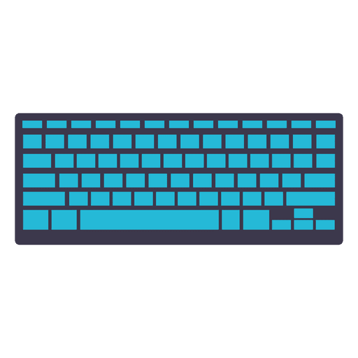 Icono de teclado plano