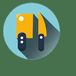 Choppers de cozinha rodada ícone