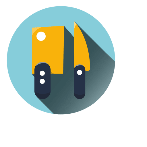 Kitchen choppers round icon Transparent PNG