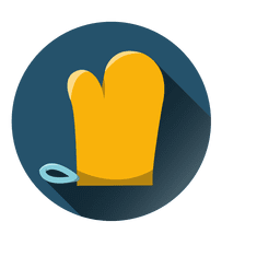 Kitchen glove round icon