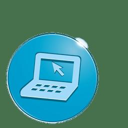Ícone de bolha de laptop