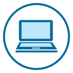 Ícone de anel de laptop