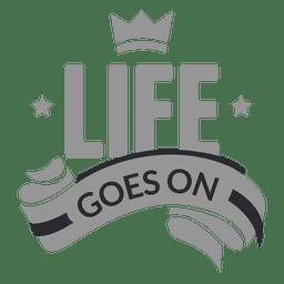 Das Leben geht auf dem Etikett