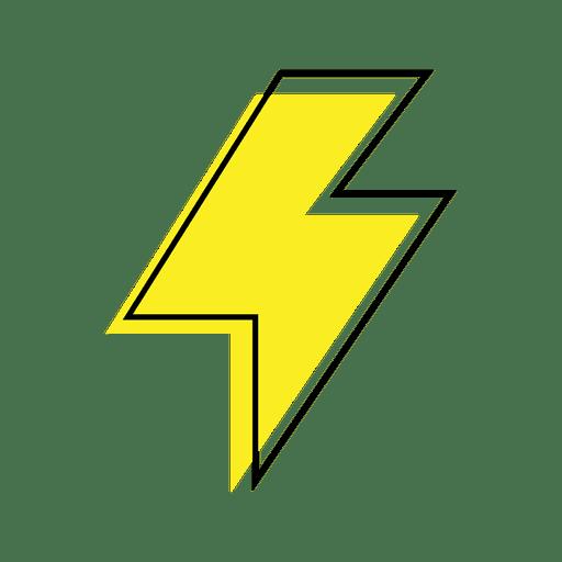 Ícone de relâmpago Transparent PNG
