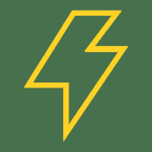 Ícone de traço de relâmpago Transparent PNG