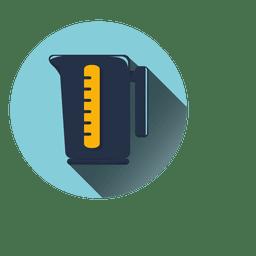 Liter jug round icon