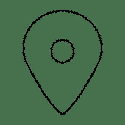 Ícone do traçado de localização Transparent PNG