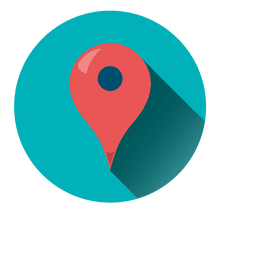 Location pointer round icon