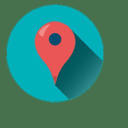 Ponteiro de localização rodada ícone
