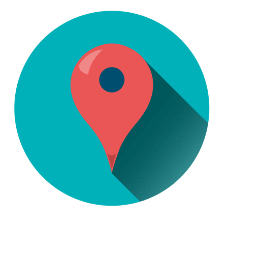 Location pointer round icon Transparent PNG