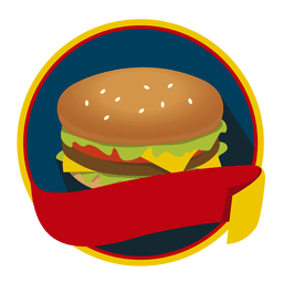 Logo hambúrguer fast food