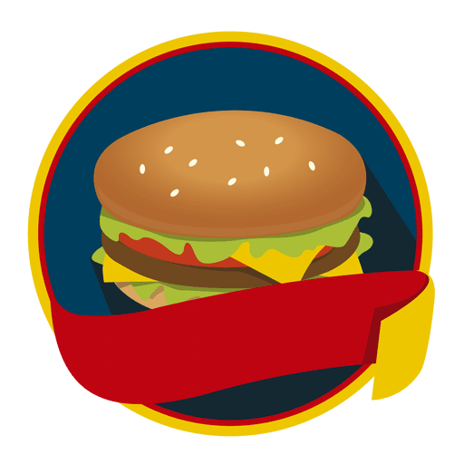 Logo burger fast food Transparent PNG