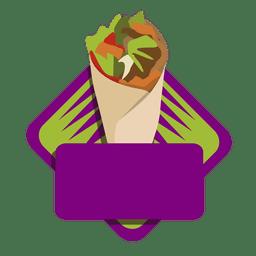 Logo kebab embrulhar fast food