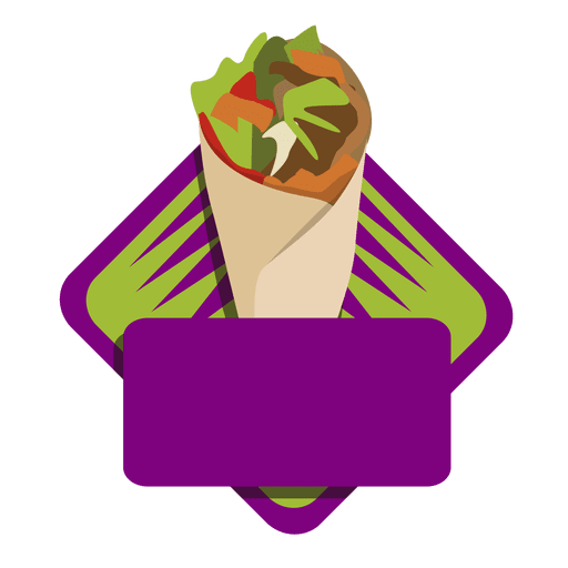 Logo kebab wrap fast food
