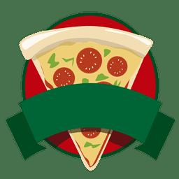 Logo pizza de comida rápida