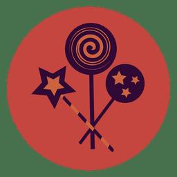 Ícone de círculo pirulitos