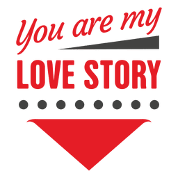 Love story valentine label