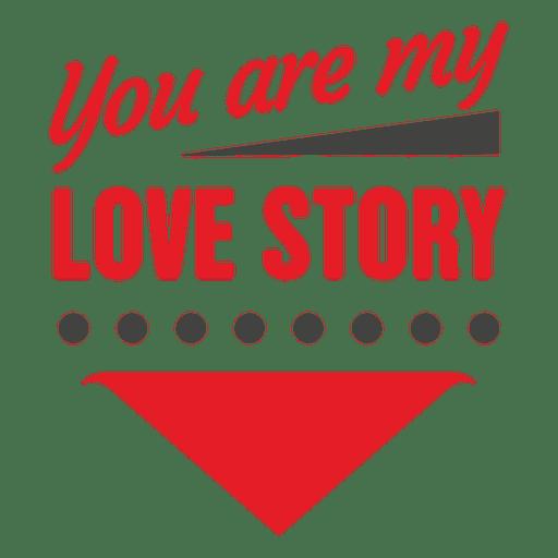 Historia De Amor Etiqueta De San Valentín Transparent PNG