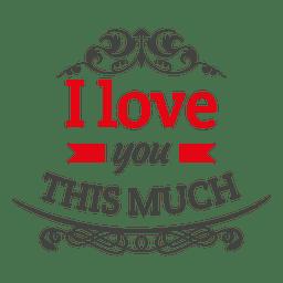 Amo o emblema dos namorados