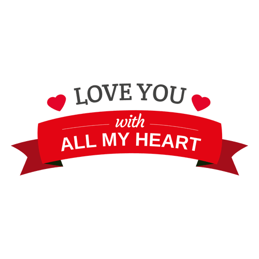 Love you heart ribbon transparent png svg vector love you heart ribbon transparent png thecheapjerseys Image collections