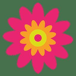 Flor magenta abstracta