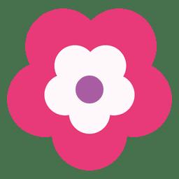Icono de flor magenta